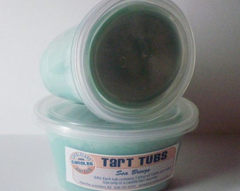Two Large Soy Tart Tubs - SEA BREEZE