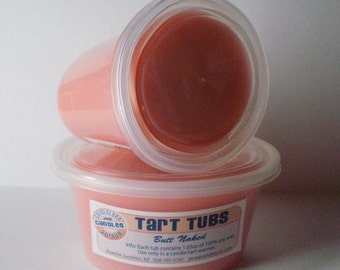 Two Large Soy Tart Tubs - BUTT NAKED
