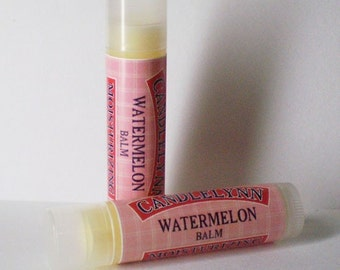 Juicy Watermelon Lip Balm by Candle Lynn - Made with Organic Shea and Cocoa Butters