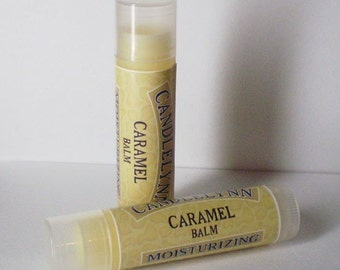 Creamy Caramel Lip Balm by Candle Lynn - Made with Organic Shea and Cocoa Butters