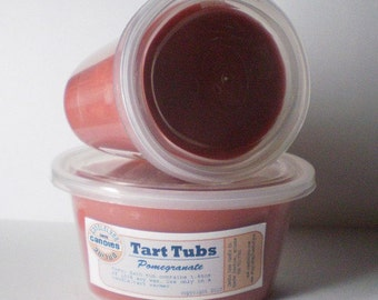 Two Large Soy Tart Tubs - POMEGRANATE