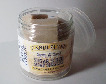 Sugar Scrub Soap Singles - Sugar Cookie - 3 oz