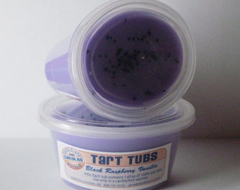 Two Large Soy Tart Tubs - BLACK RASPBERRY VANILLA