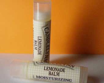 Lemonade Lip Balm by Candle Lynn - Made with Organic Shea and Cocoa Butters