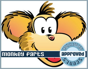 MONKEY FARTS scented Clam Shell Package - Tarts