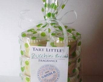 6 Soy Wax TART LITTLES - Zucchini Bread