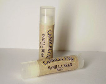 Vanilla Bean Lip Balm by Candle Lynn - Made with Organic Shea and Cocoa Butters