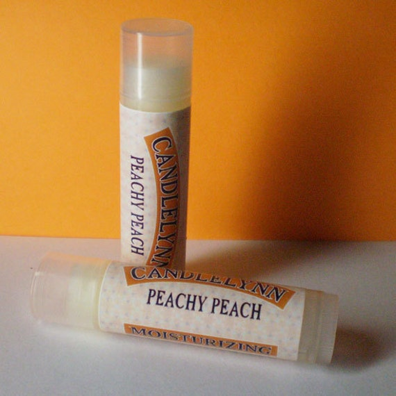 Peachy Peach Lip Balm by Candle Lynn - Made with Organic Shea and Cocoa Butters