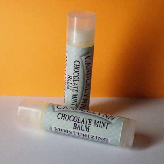 Chocolate Mint Lip Balm by Candle Lynn - Made with Organic Shea and Cocoa Butters
