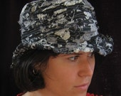 RESERVED Black and white brimmed hat