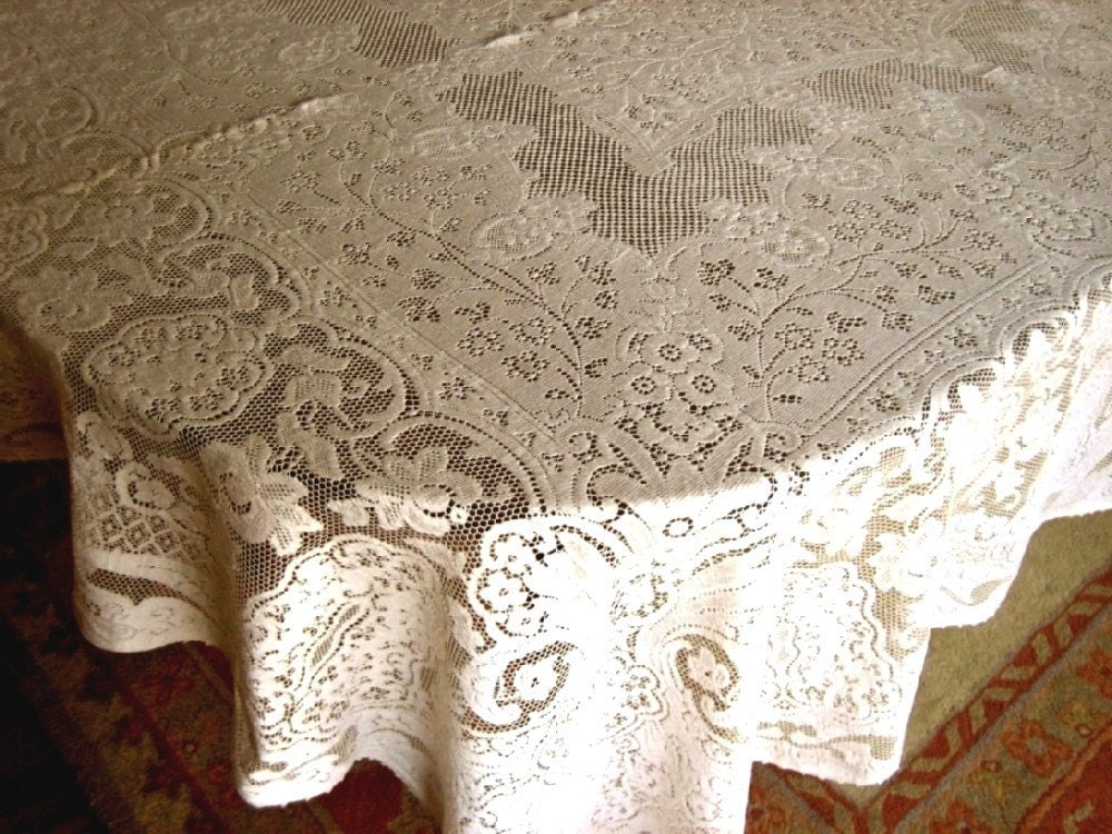 Vintage Lace Tablecloth Quaker Lace Style By