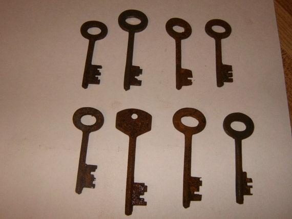 Vintage Skeleton Keys - Lot 9 - Qty 8