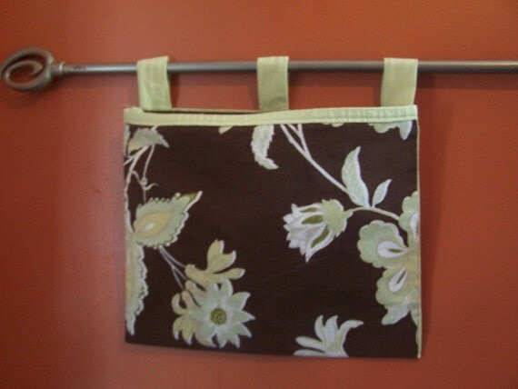 Wall Organizer, Organization, Mail Pouch Made From Upcycled Fabric.