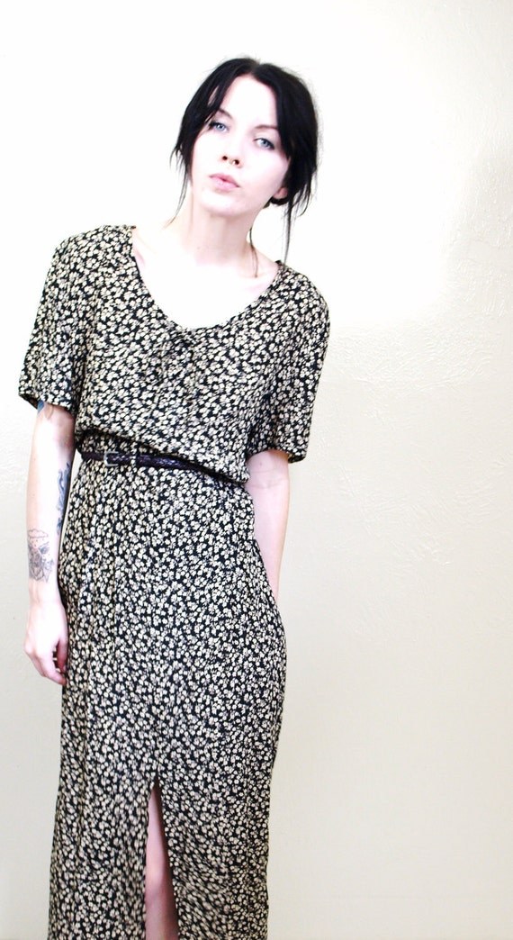 1990s Vintage Nina's Melancholy Maxi Dress