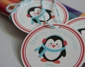 Penguin Gift Tags - Set of 12