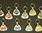 Pawfect Paws - Buy 2  get 1 Tag FREE - hand engraved creations -pet dog and cat id name tags ---