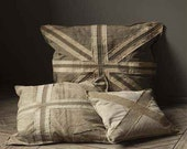 Recycled British Flag Pillow. (Union Jack Attitude Included)