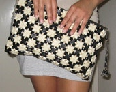 RESERVED FOR MONICA Antique 40s Black and White Checkered Bakelite Purse Clutch Bag