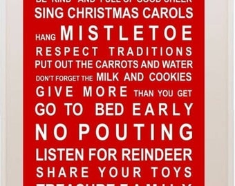 Christmas Rules - A5 Vintage Bus Roll Style