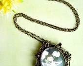Bronze pendant necklace - Illustration 'TinkerBell'