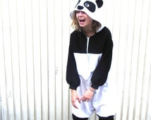 Soft and Fleecy Panda Onesie - all-in-one fancy dress adult animal costume