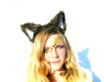 Big Bad Wolf - Fuzzy wolf ears headband