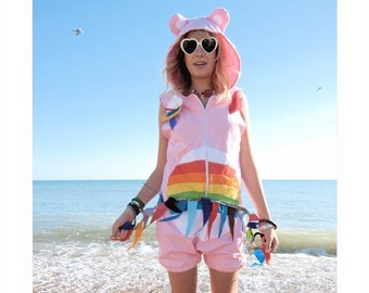 Rainbow Bear - Cute Bear Romper Playsuit