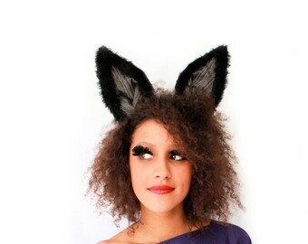 Black Bunny - luxury bendeable bunny ears