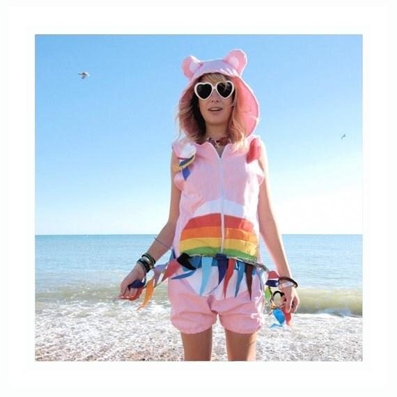 Rainbow Bear - Cute Bear Romper Playsuit
