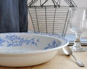 antique french ironstone bowl