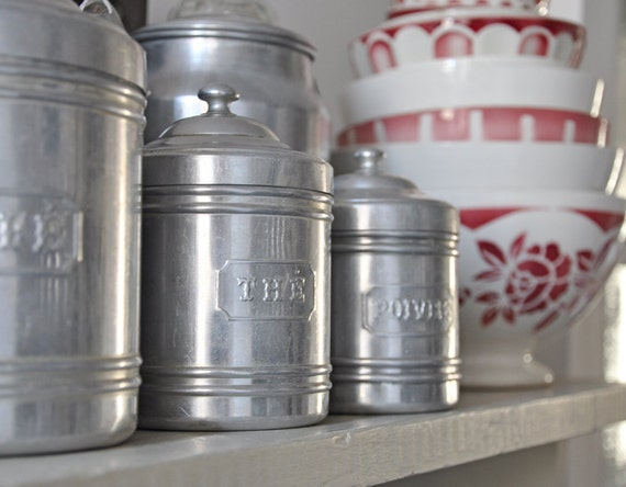 Vintage French Kitchen Canister Set