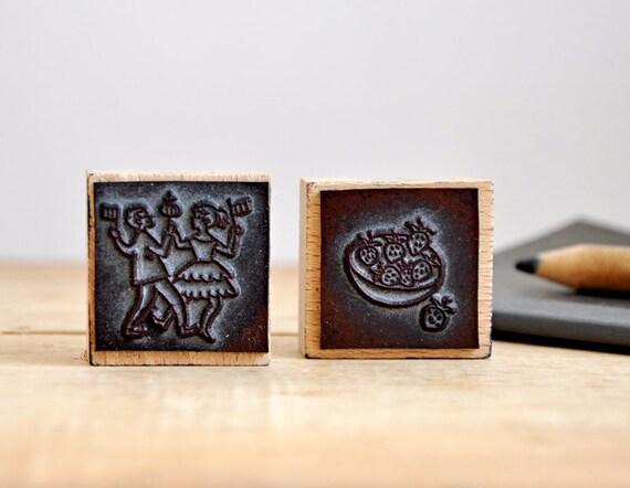 vintage rubber stamps - c'est l'été