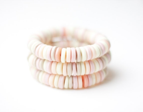 Bracelet Pastel Multicolor Tea Rose Pink Nude Ivory Butter Cream Beige Cuff tbteam geometric fall fashion free shipping