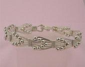 Handmade Argentium Sterling Silver Arrow Head Bangle Bracelet