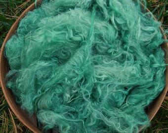 """Suri Alpaca Fiber, 2 ounces, Hand-Dyed, Lucerne, 5"""",  """"Lorelei"""""""