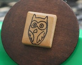 SCRABBLE TILE Owl  necklace