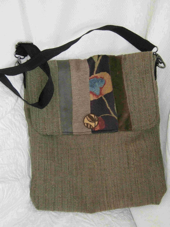 OVER 50% OFF SALE  Tweed Messenger Bag - Ready to Ship