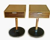 Pedestal Night Tables