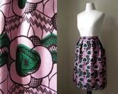 CUSTOM gathered high waist skirt african print XS-L