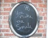 Chalkboard rose relief vintage frame