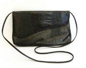 Vintage Brown Faux Reptile Envelope Bag