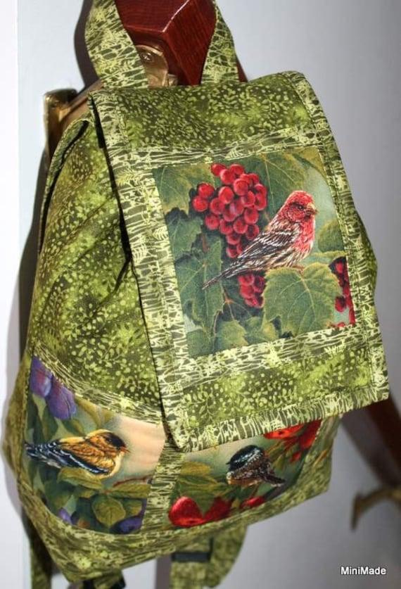 Backpack Purse, Drawstring Bag, Backyard Birds