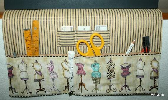 Sewing Machine Organizer, vintage dress forms