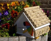 Reversed for Elise  Cyber Monday Sale wine cork bird house/beach retreat for your feathered friends for winter