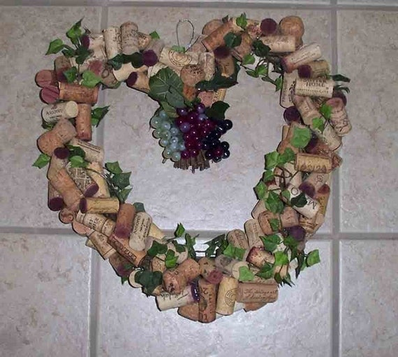 Sale Heart Shaped Wine Cork Wreath