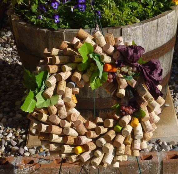 wine country wine cork wreath