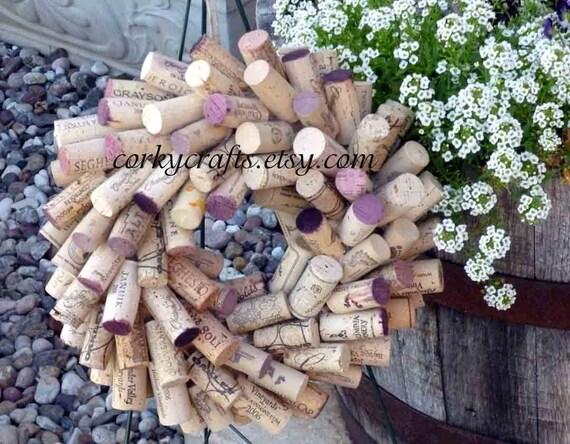 Small wine cork wreath
