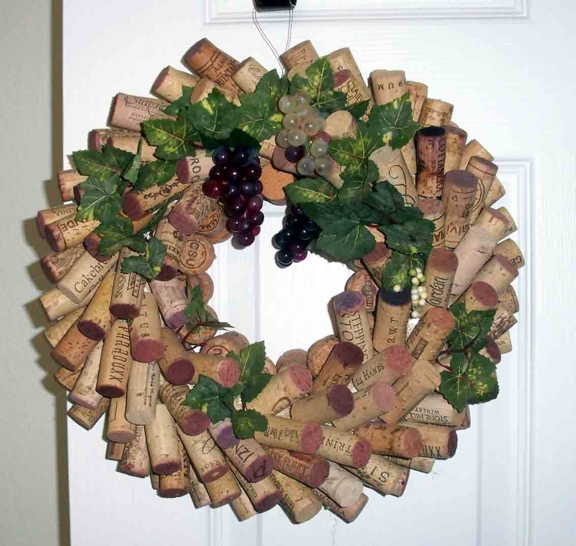 Cork Wreath: Christmas In July Wine Country Wine Cork Wreath By Corkycrafts