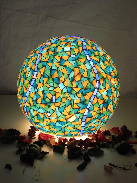 Black Friday Cyber Monday sale - Blue mosque  - mosaic table lamp