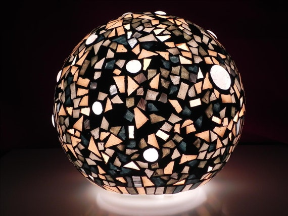 Ayasofya - glass mosaic decorated table lamp - home decor ,